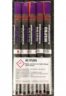 Magnesiumfackel purple 60 sec, mit Rauch