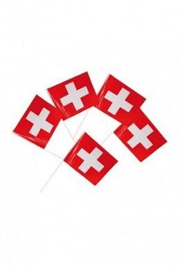 Schweizerfahne  - Set mit 5 Schweizerfahnen