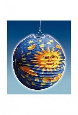 Lampion Sonne/Mond rund