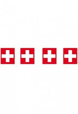 Fahnenkette Schweiz, 5 m lang