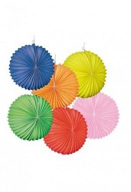Lampion in Uni-Farben- 4 Papier-Lampions, assortiert