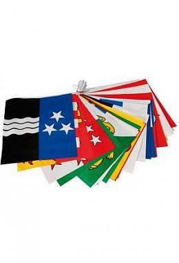 Fahnenkette Kantone - 26 Kantonsflaggen 20 x 23 cm