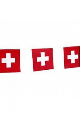 Fahnenkette Schweiz, 10 m lang